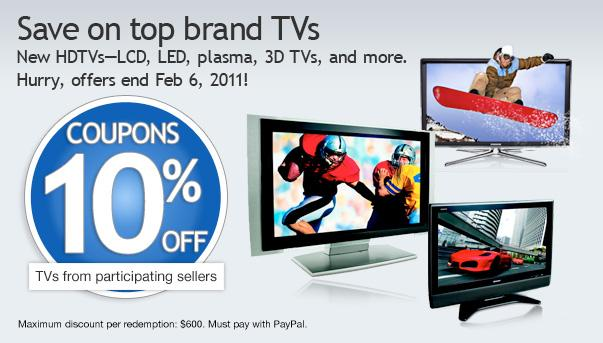 ebay discount coupon for television