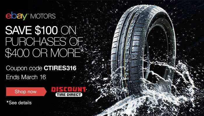Discount Tire Direct Ebay >> Roll Into Savings 100 Off Discount Tire Direct Ebay Partner Network
