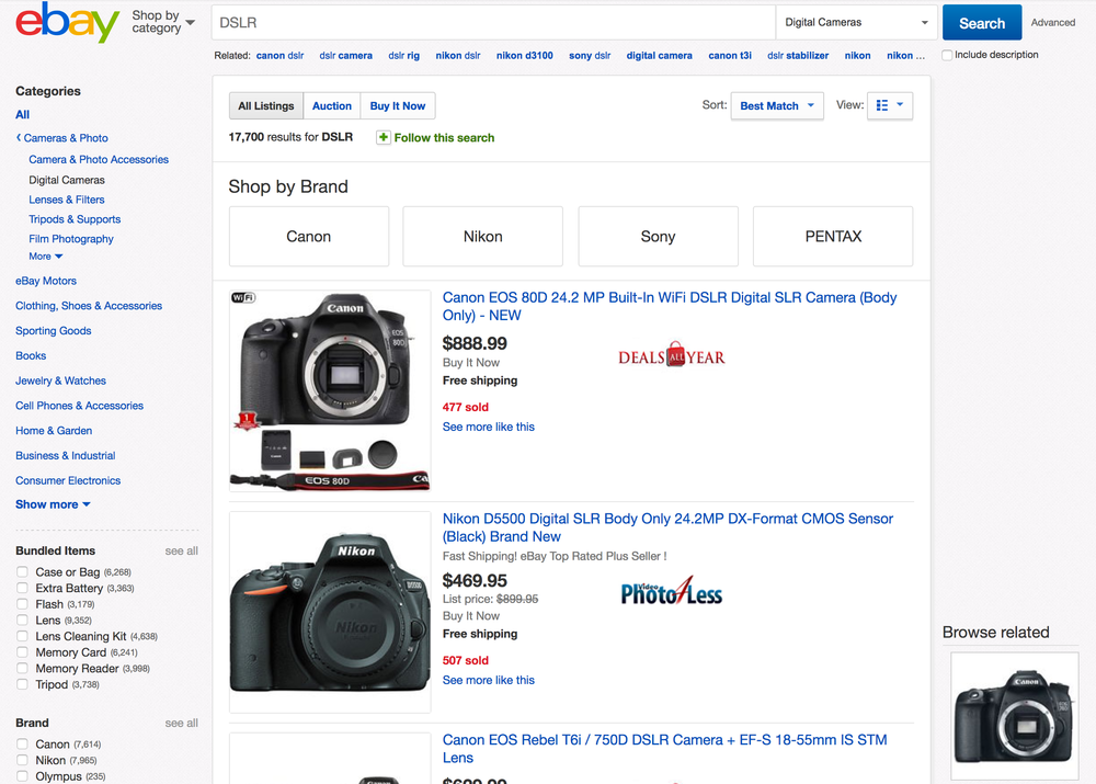 Search Results - Feature many listings for a single product, such as