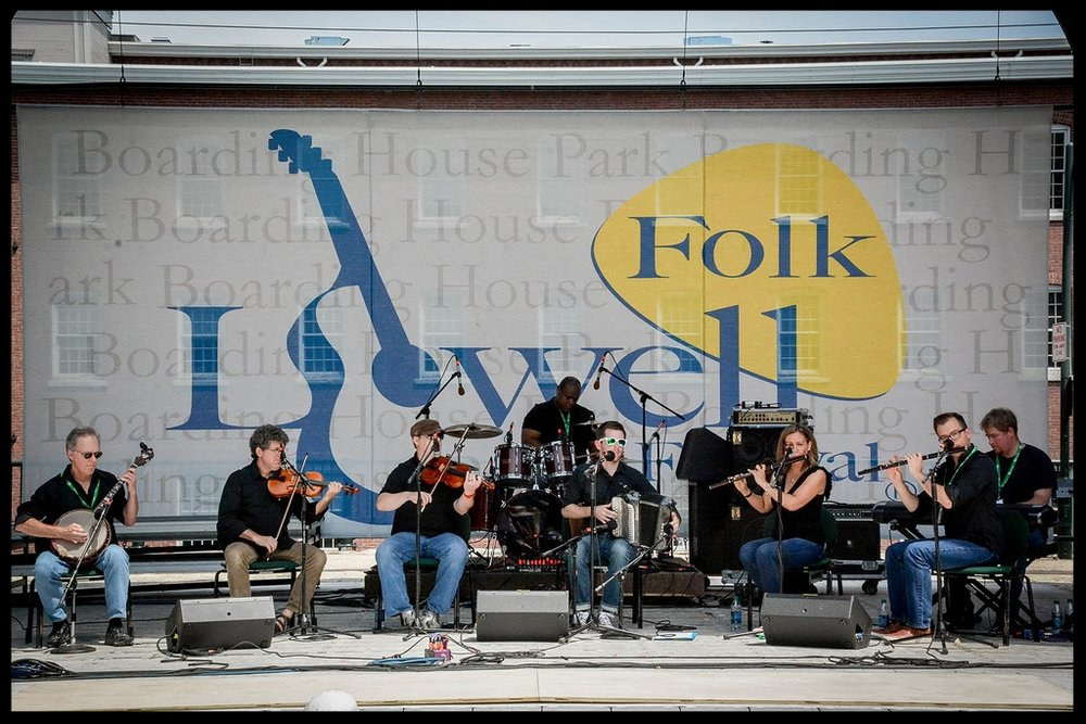 On stage at the 2016 Lowell Folk Festival with the Old Bay Ceili Band.