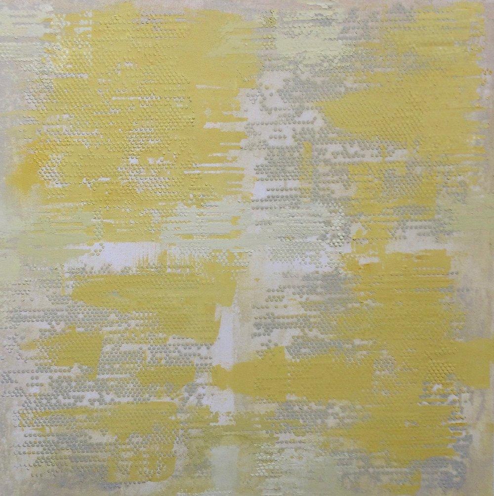"Yellow Dot Matrix, 24"" x 24"", 2015"