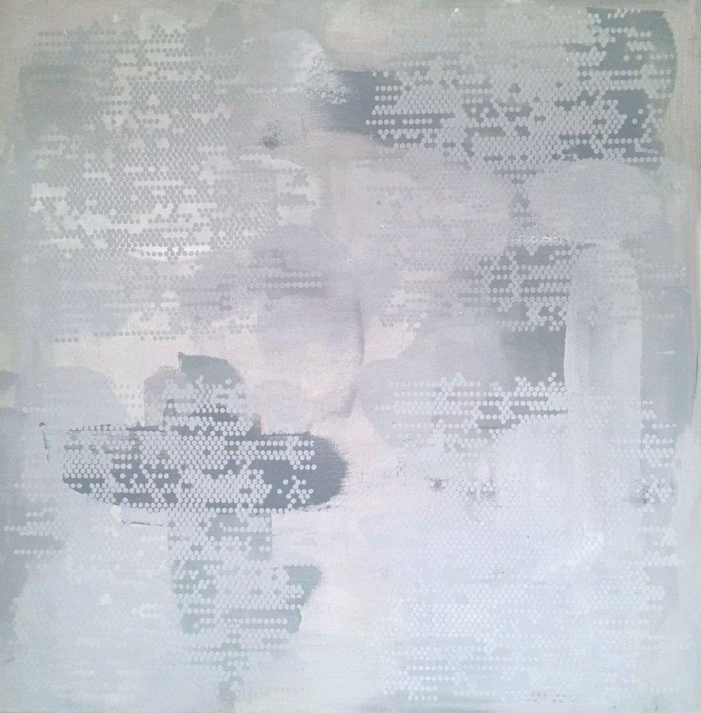 """Light Blue Dot Matrix, 30"""" x 30"""", 2015"""