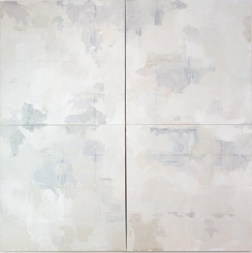 5.Manheimer_ Off the grid, 2016, 4 panels 4%22 x 48%22 each, total dimension 96%22 x 96%22, acylic on canvas.jpg