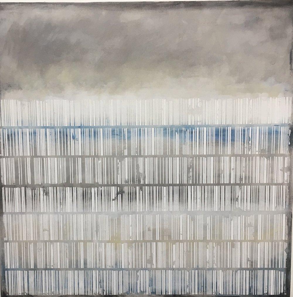 3. Manheimer_Landscape bar code, 2016, 30%22 x 30%22, acrylic on canvas .jpg