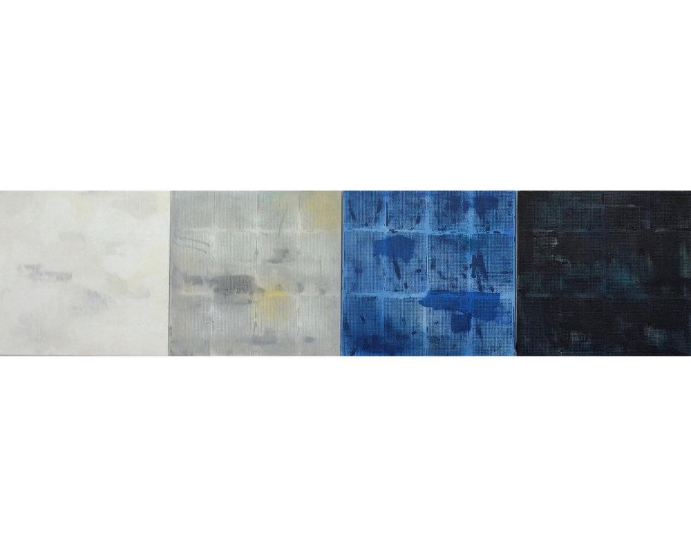 7.Manheimer_Off the Grid Series , 2016, 4 panels 24%22 x 24%22, total dimension 24%22 x 96%22, acrylic on canvas.jpg