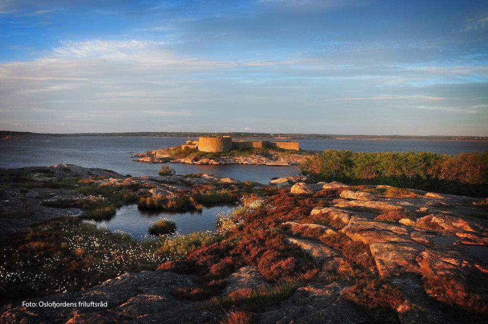 Akerøya fort på Festningsholmen ligger kloss inntil Akerøya. Foto: Oslogjordens friluftsråd.