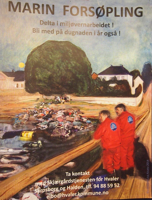 """Plakat som """"forteller det meste"""". Foto: Skjærgårdstjenesten"""