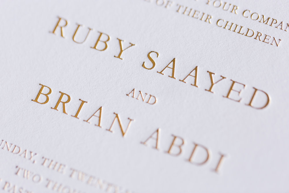 WEDDING INVITATIONS - Our collection of wedding invitations.