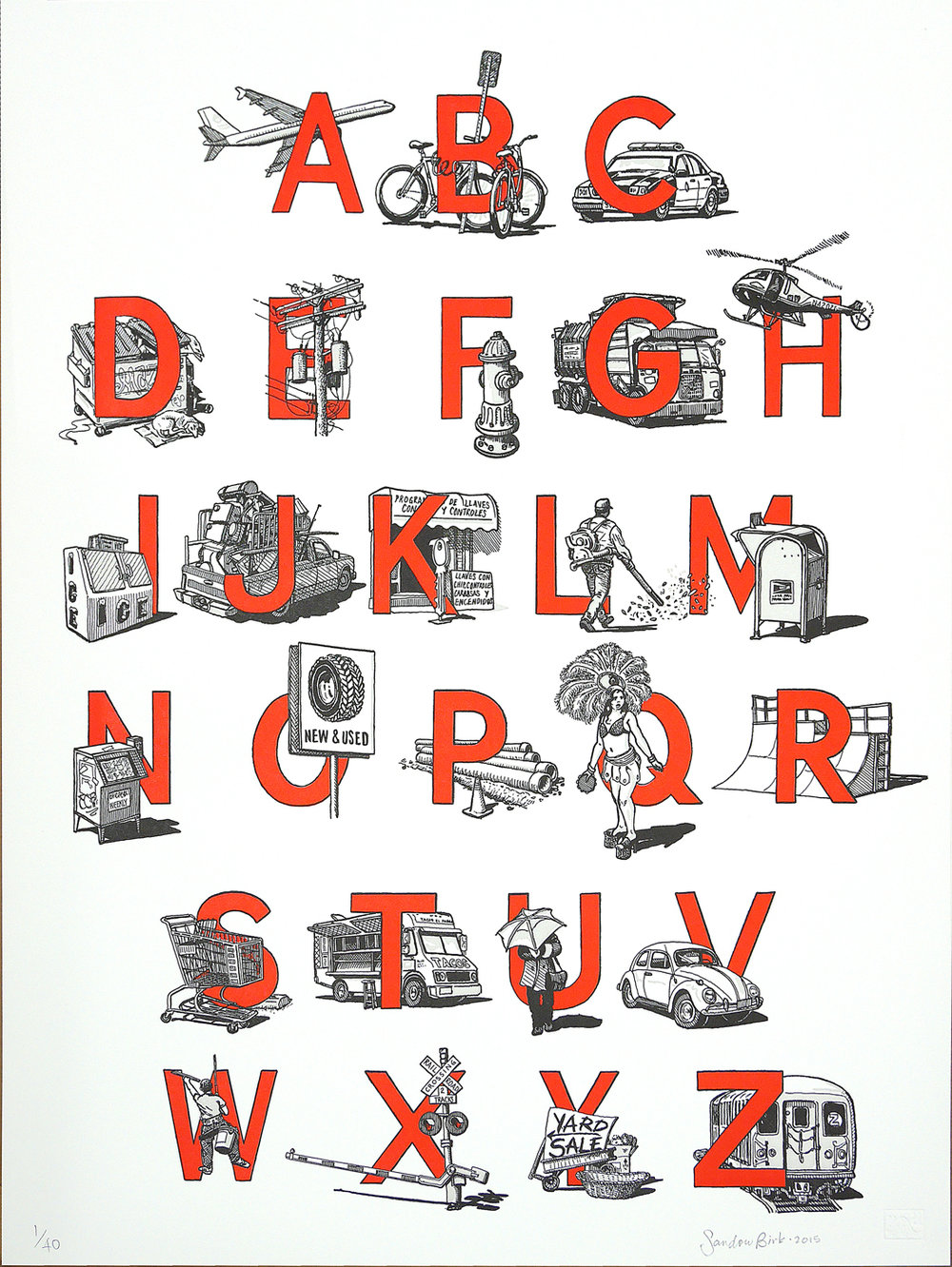 """Urban Alphabet"" by Sandow Birk"