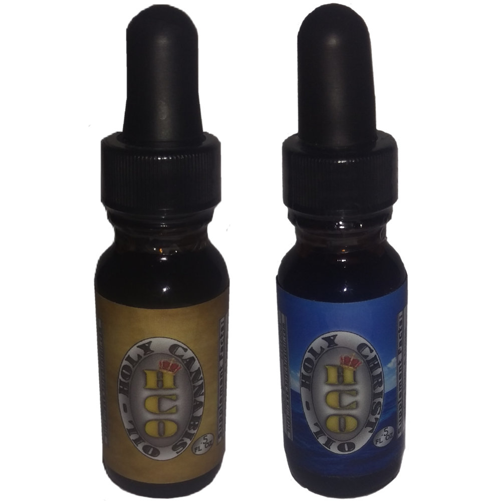 Each bottle of Holy Cannabis Oil and Holy Christ Oil contains .5 OZ-15 MIL (half ounce)Of cannabis-rich concentrated oil.