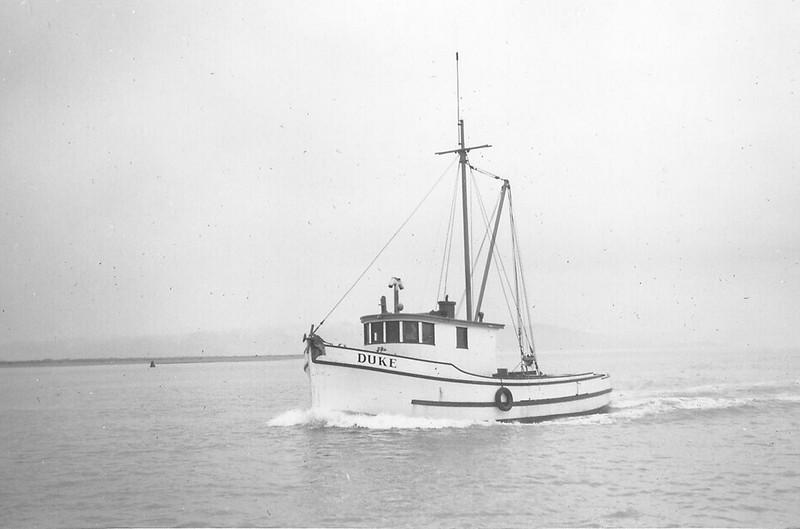 Duke as a crabbing boat in Eureka, CA, 1950s