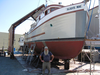 Curtis Schloe, owner from 2007 to 2015. She was called the Gladys Mae after Curtis' mother. Port Townsend, WA, 2010