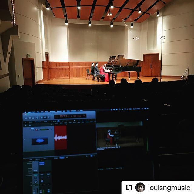 Recital 1 of 2 today. #piano #steinway #pianoconcerto #usc #audioengineer #videographer #livestream