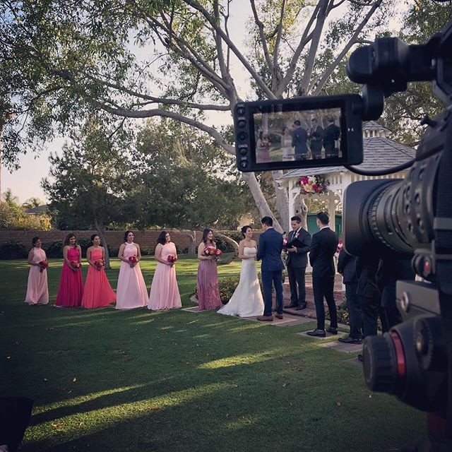 Filmed this wedding yesterday. Congratulations to Christine and Martin! #weddingvideography #videographer #socalwedding #wedding