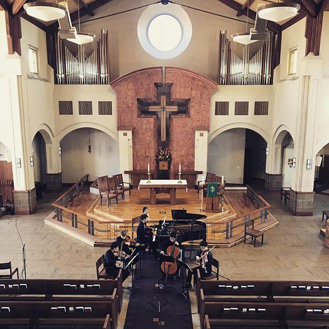 Sunday recording @chambermusicoc