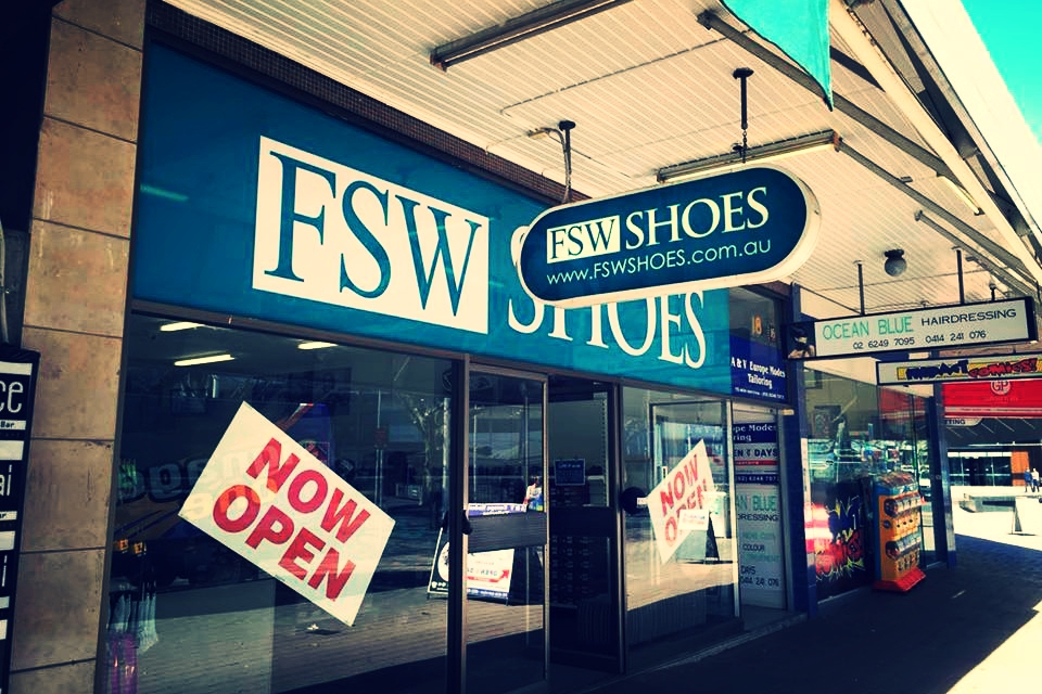 FSW Shoes Shop signage Goulburn