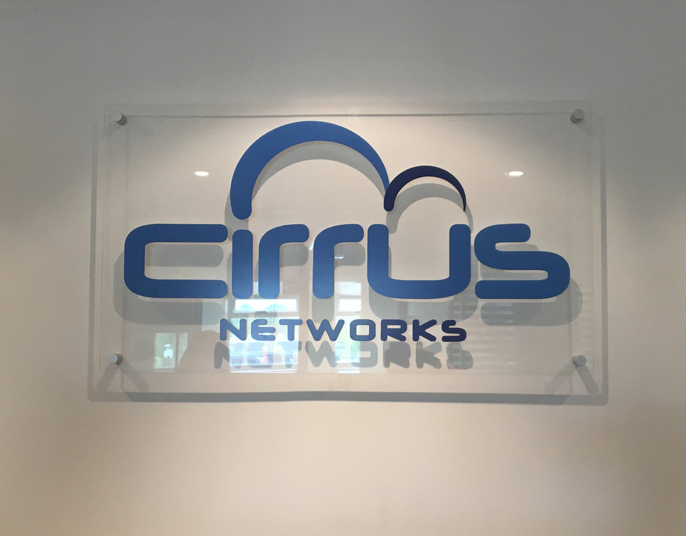3d Acrylic Lettering Cirrus Netwroks Canberra