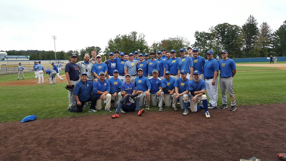 Misericordia University baseball alumni at Tambur Field (Dallas, Pennsylvania)