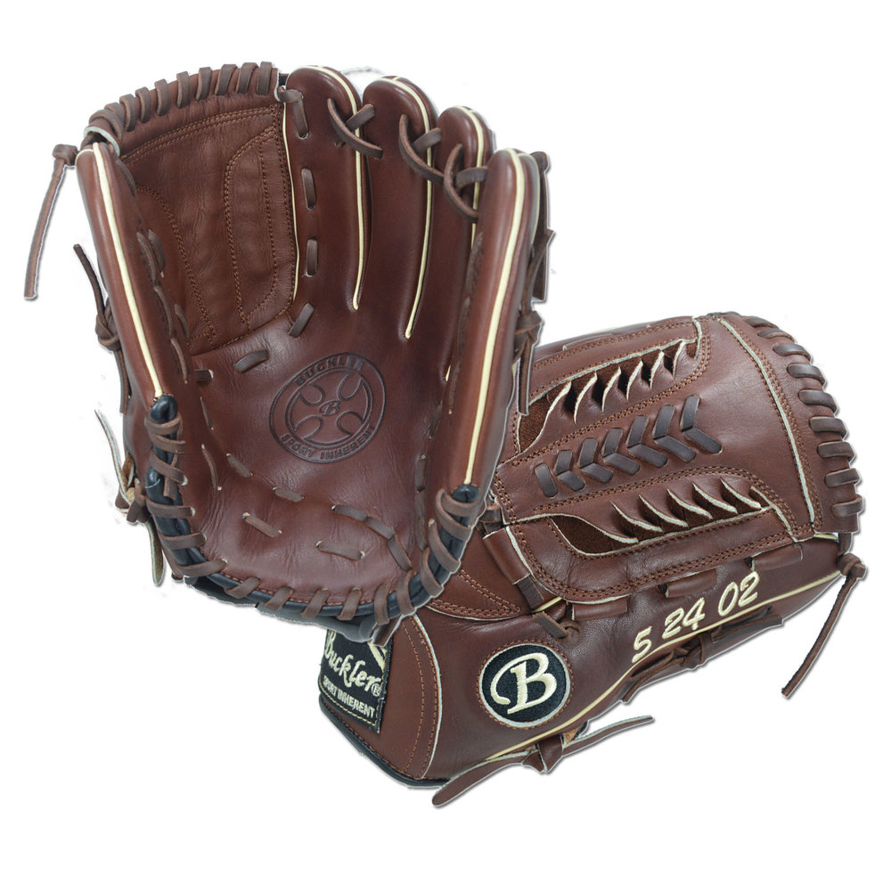 "Custom by Gold ·      Size: 12"" ·      Web: Shark ·      Glove Color: Mocha ·      Lace Color: Dark Brown ·      Welting: Camel ·      Binding: Dark Brown ·      Outer Stitch: Dark Brown 