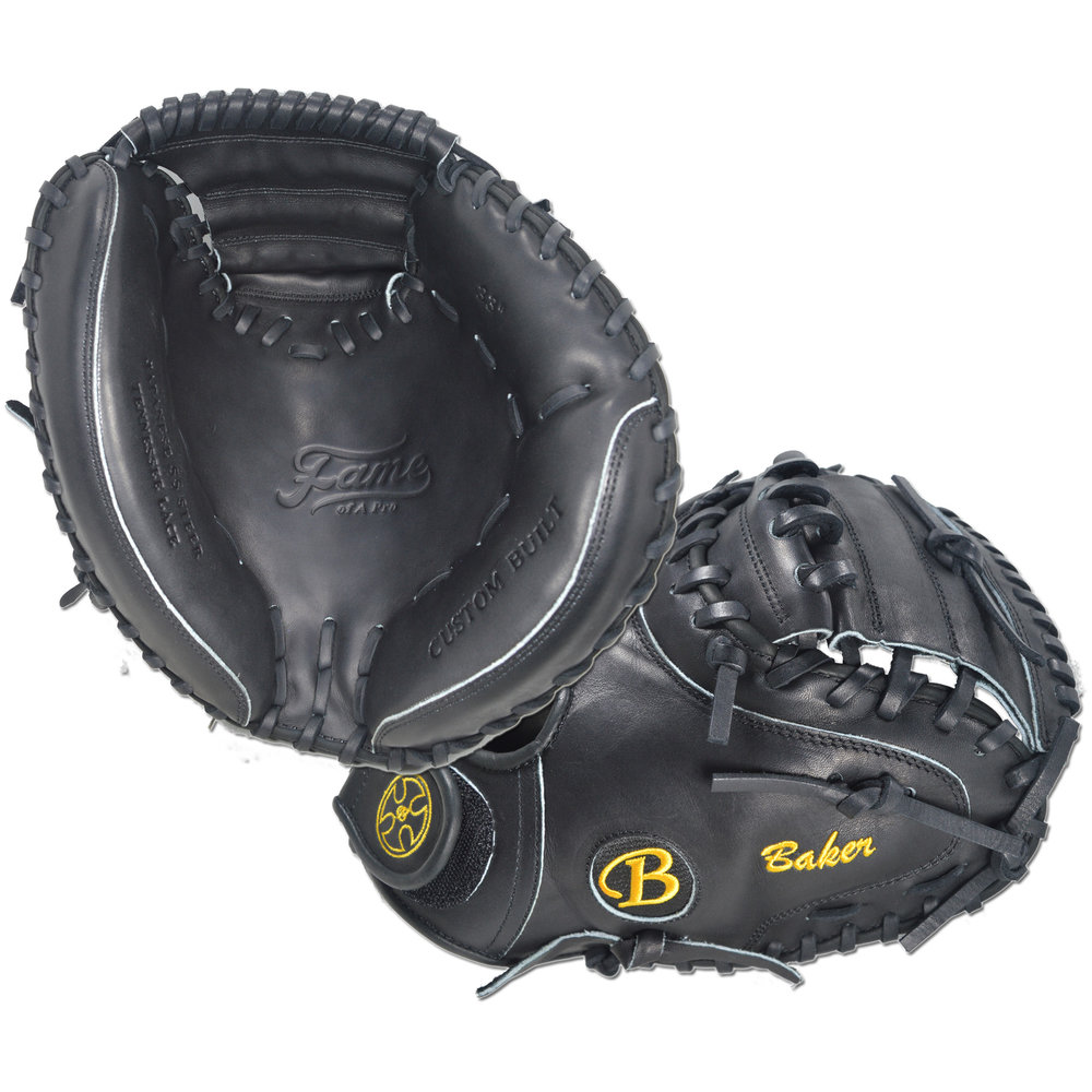 "Custom by Baker ·      Size: 33"" ·      Glove Color: Black ·      Lace Color: Black ·      Welting: Black ·      Binding: Black ·      Outer Stitch: Gold ·      Back: Open 
