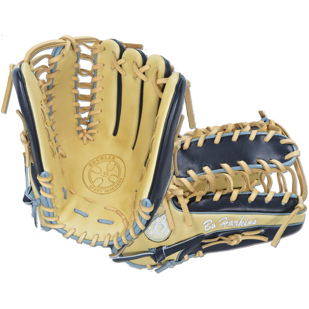 "Custom by Harkins ·      Size: 12.75"" ·      Web: Trapeze ·      Glove Color: Black 