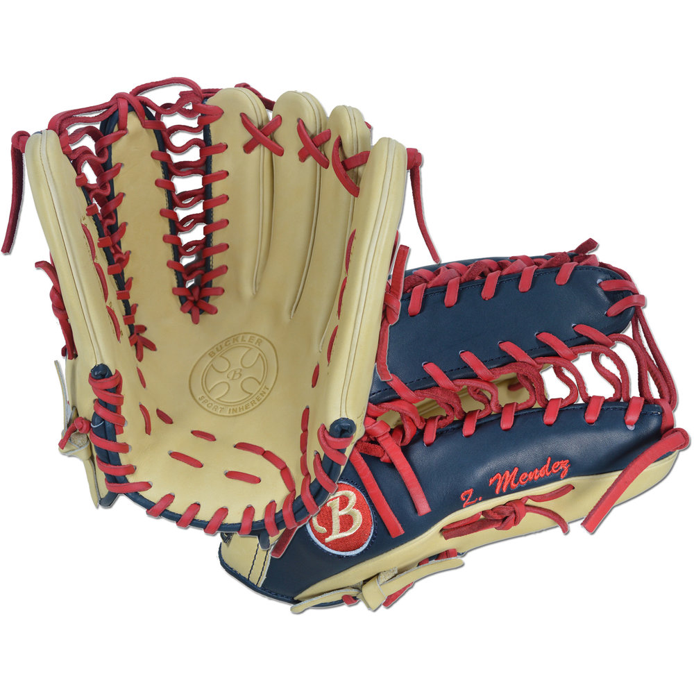 "Custom by Mendez ·      Size: 12.75"" ·      Web: Trapeze ·      Glove Color: Camel 