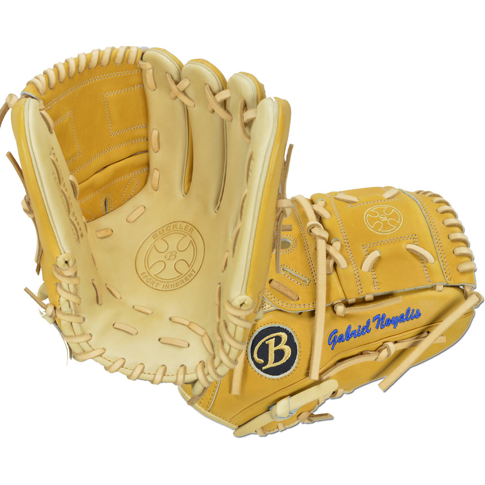 "Custom by Noyalis ·      Size: 12"" ·      Web: Split-solid ·      Glove Color: Camel 