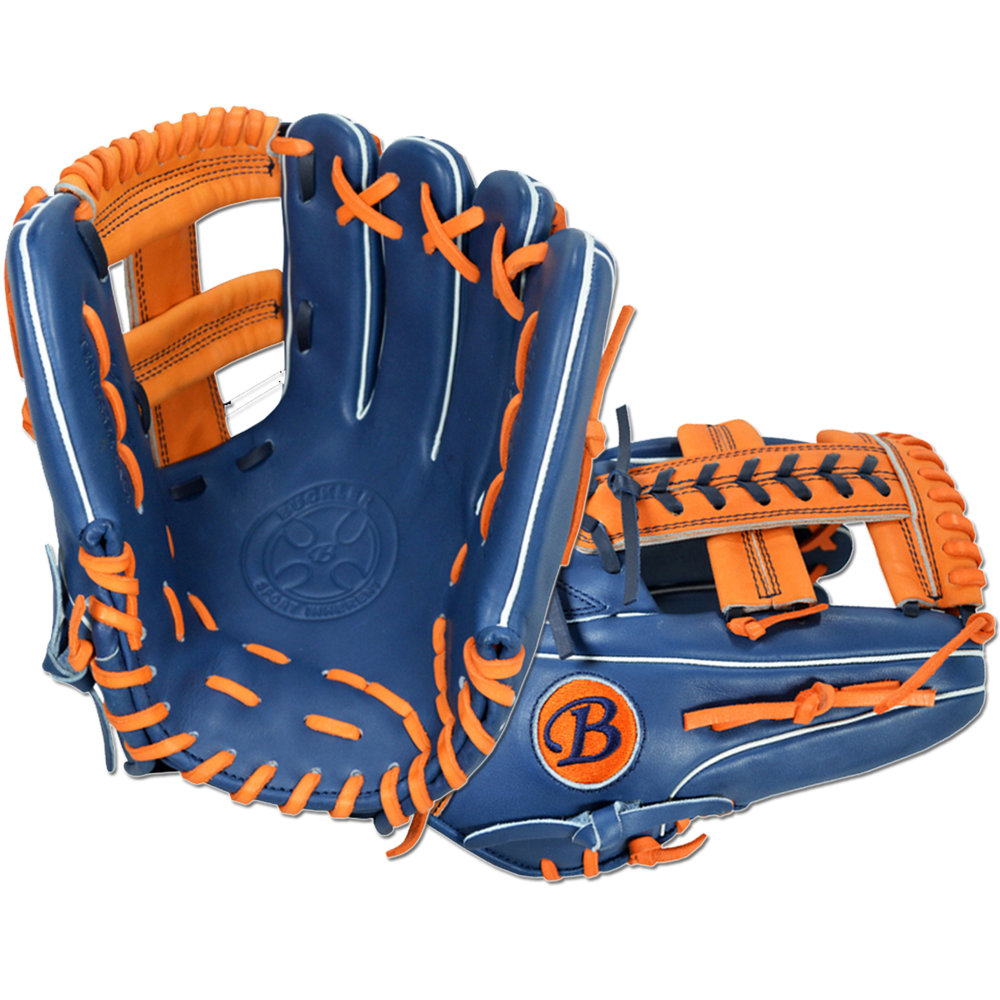 "Custom by Buckler Bold   ·       Size : 11.75""  ·       Leather : Premium USA Steerhide  ·       Web : T-Lace  ·       Glove Color : Navy 
