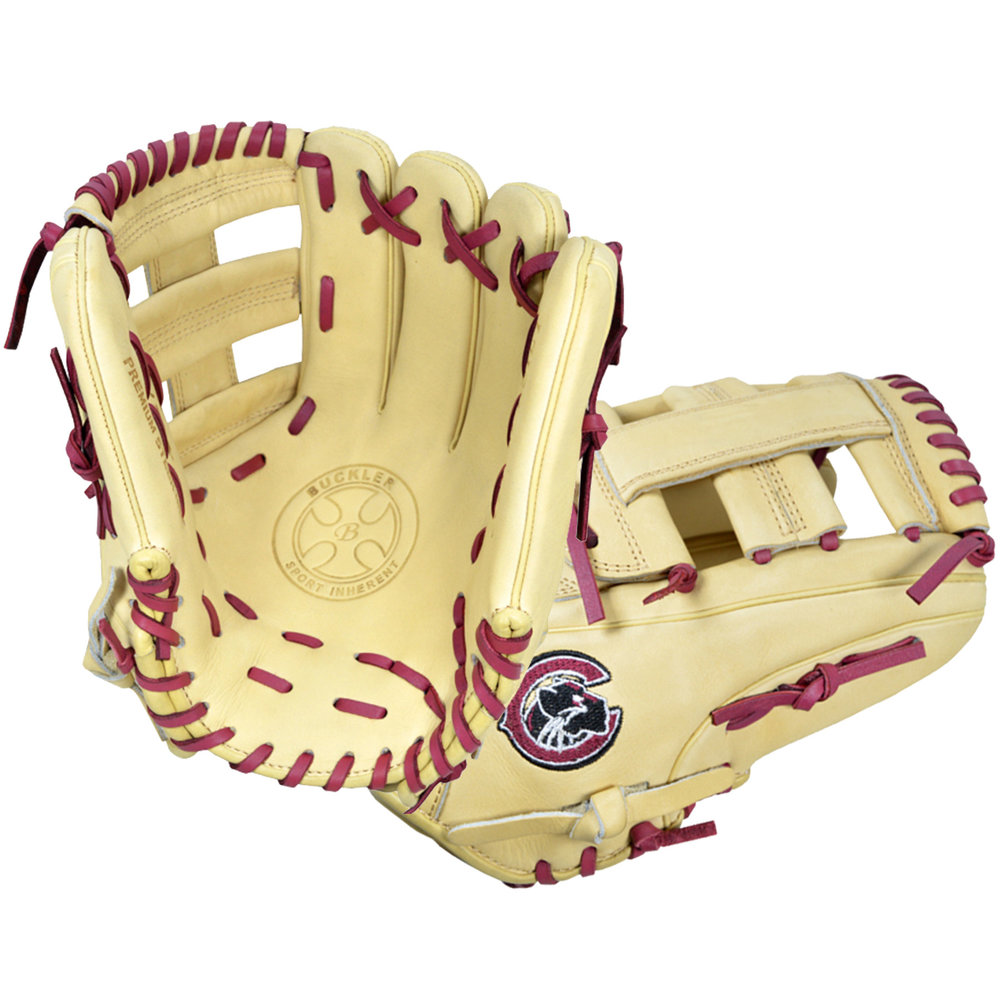 "Custom by   Garcia    ·       Size : 11.75""  ·       Leather : Premium USA Steerhide  ·       Web : Single Post  ·       Glove Color : Camel  ·       Lace Color : Burgundy  ·       Welting : Camel  ·       Binding : Camel  ·       Outer Stitch : Camel 