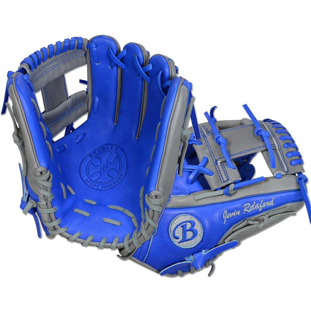 "Custom by Relaford   ·       Size : 11.75""  ·       Leather : Premium USA Steerhide  ·       Web : I-Web  ·       Glove Color : Royal Blue 