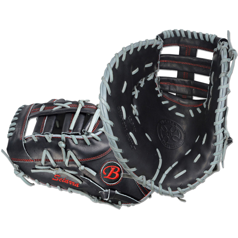 "Custom by Sciarra   ·       Size : 12.75""  ·       Leather : Premium Texas Steerhide  ·       Web : Triple Post  ·       Glove Color : Black 