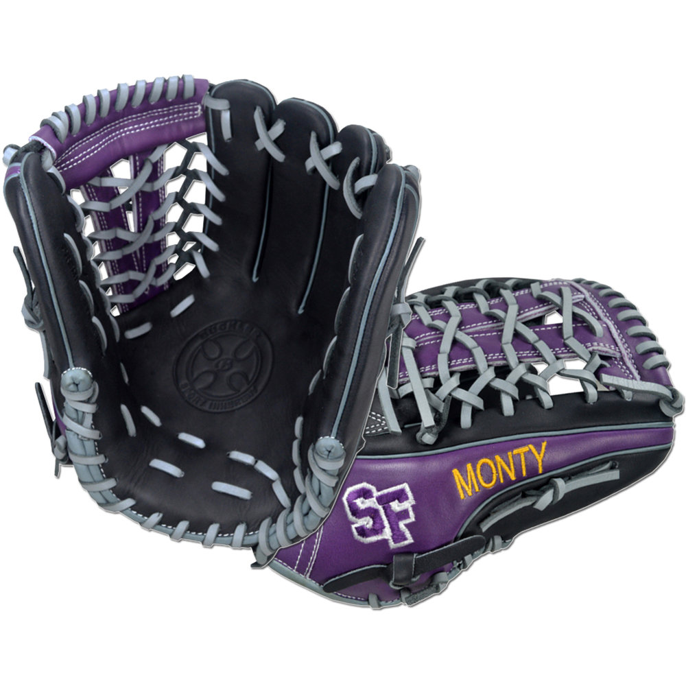 "Custom by Montgomery   ·       Size : 12""  ·       Leather : Premium USA Steerhide  ·       Web : V-Net  ·       Glove Color : Black 