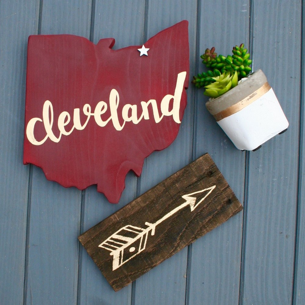 Small Cleveland Script Ohio