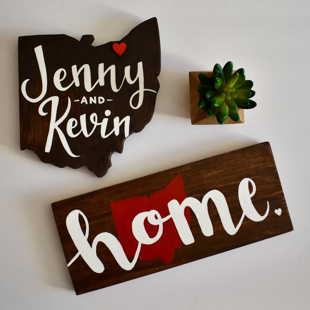 Custom ohio names with home heart sign