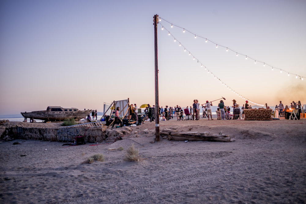 The Bombay Beach Biennale documentary film crew capturing moments at the beach front_photo by Tao Ruspoli.jpg