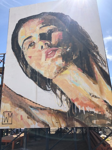 Large Painted Mural of Woman.JPG