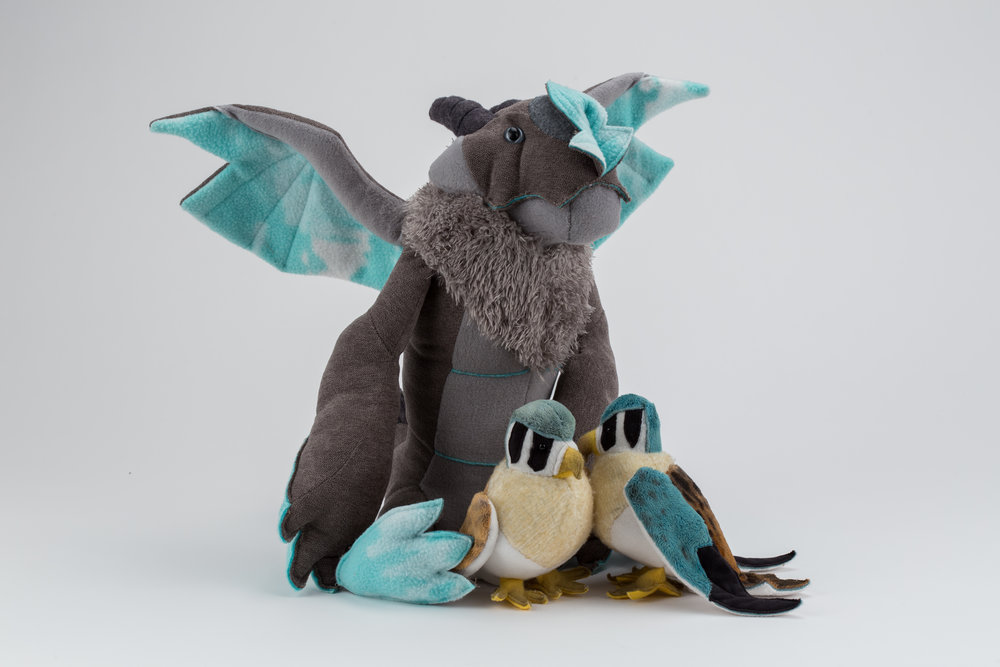 Original plush character Mica the Gargoyle