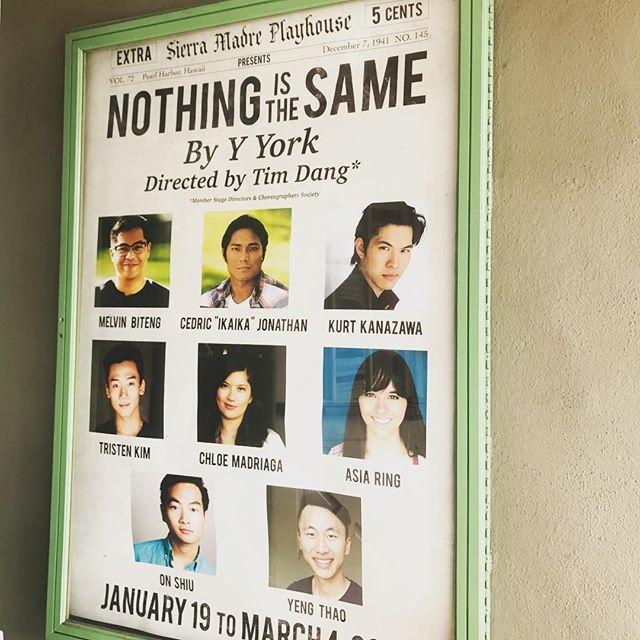 Don't miss the fantastic @mbiteng in Nothing Is The Same at @sierramadreplayhouse as they close a fantastic run tonight! . . We are doing a WWII weekend with #NothingIsTheSame and then @allegiancebway at @eastwestplayers! . . #allegiance #eastwestplayers #wwii #japaeseamerican #dayofremembrance #lathtr #learnfromthepast #cast