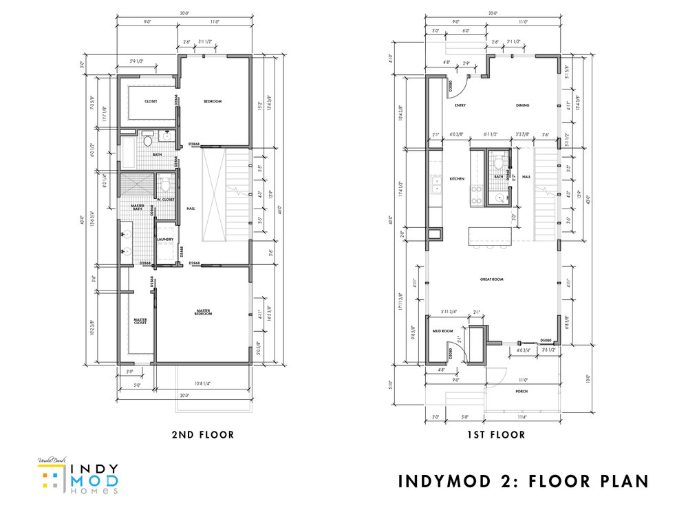 1st/2nd Floor Plans