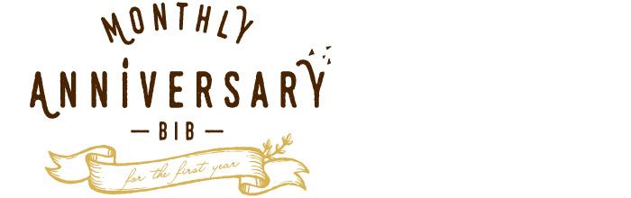 monthly anniversary bib logo