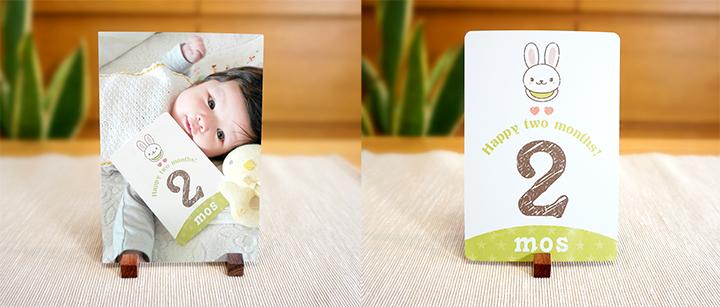 monthly photo card マンスリーフォトカード