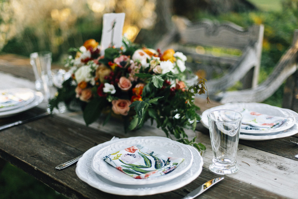 Rifle Paper Co. Inspired Styled Shoot - Styling by Ashley Spence