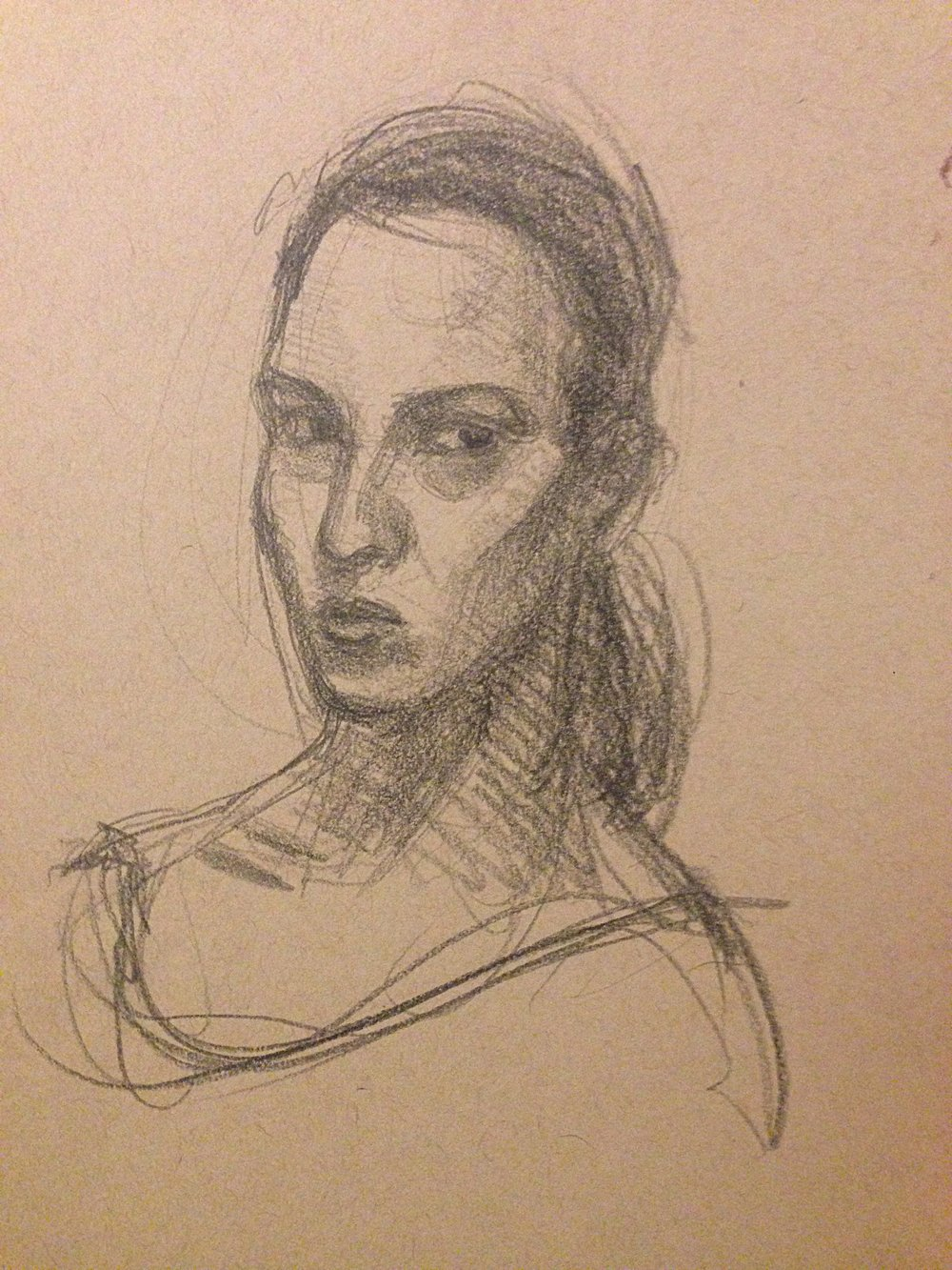"""Self Portrait Sketch"" 2014"
