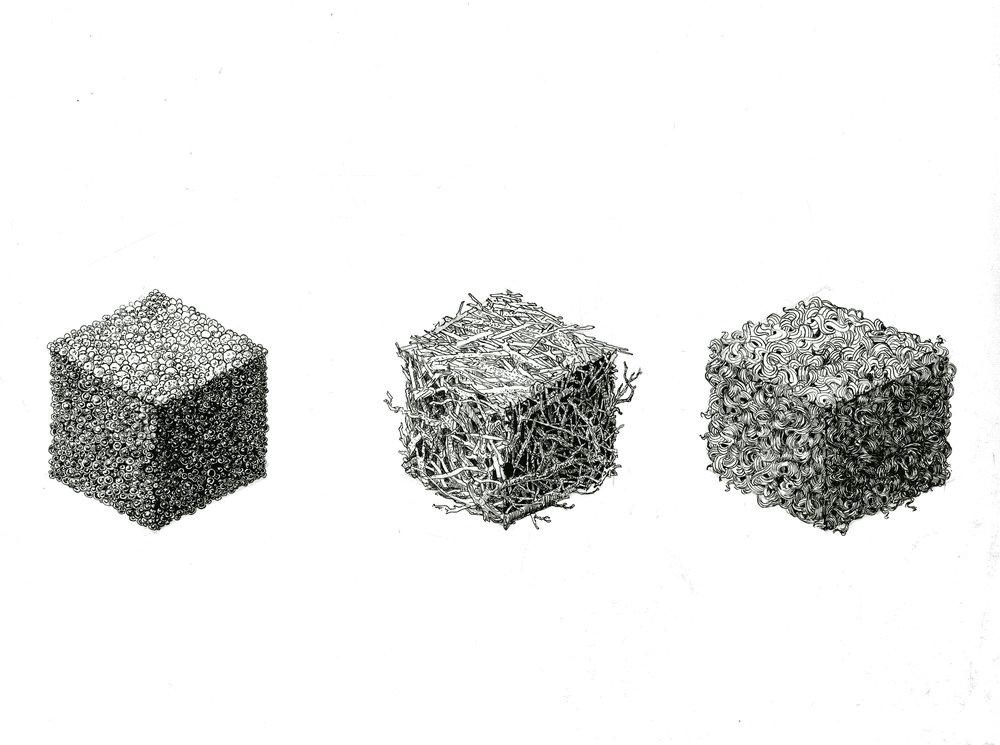 'Three cubes' 2016
