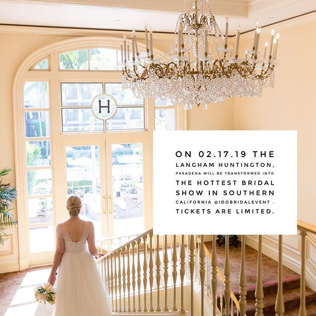 We're only F I V E weeks away from the #bridalshow everyone will be talking about! #idobridalevent