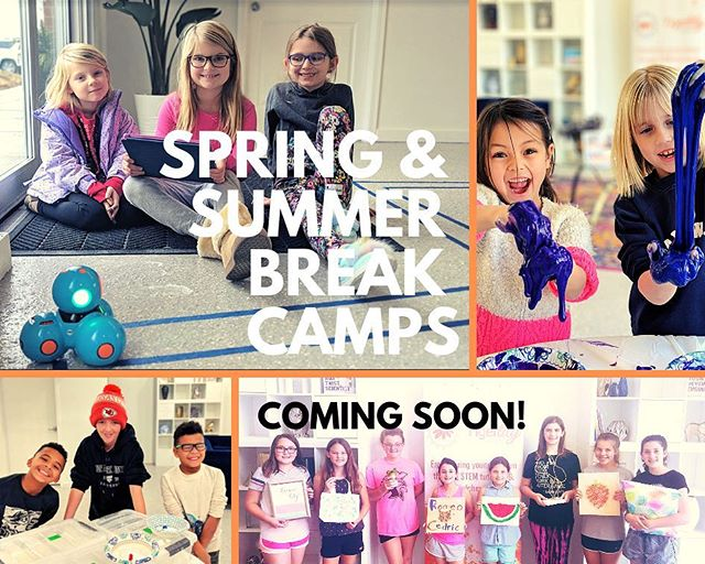 We are excited to announce that our Spring & Summer Break Camps will be posted soon! We will have a variety of topics for ALL students to learn like our popular DIY Maker and Harry Potter classes! Be on the look out for class details & registration information!