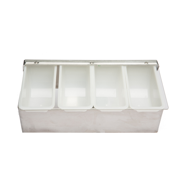 FOUR COMPARTMENT CONDIMENT HOLDER -