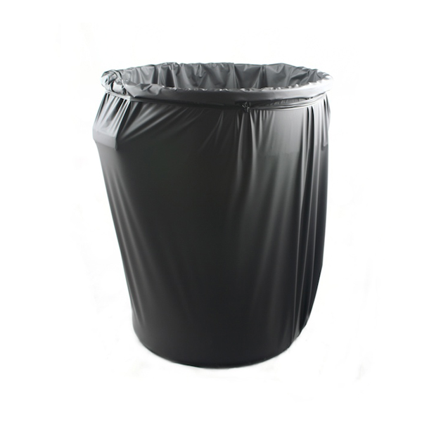 COVERED LARGE TRASH CAN -