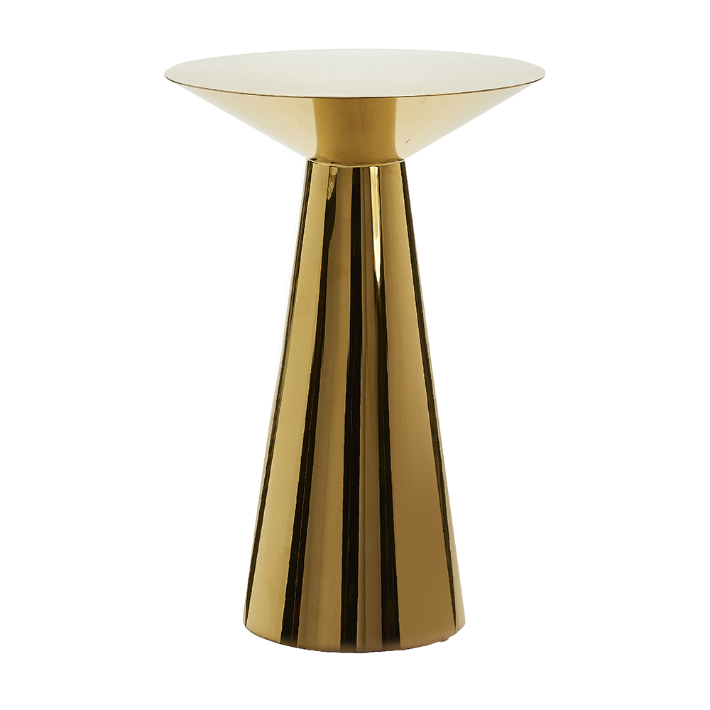 POLISHED GOLD COCKTAIL TABLE