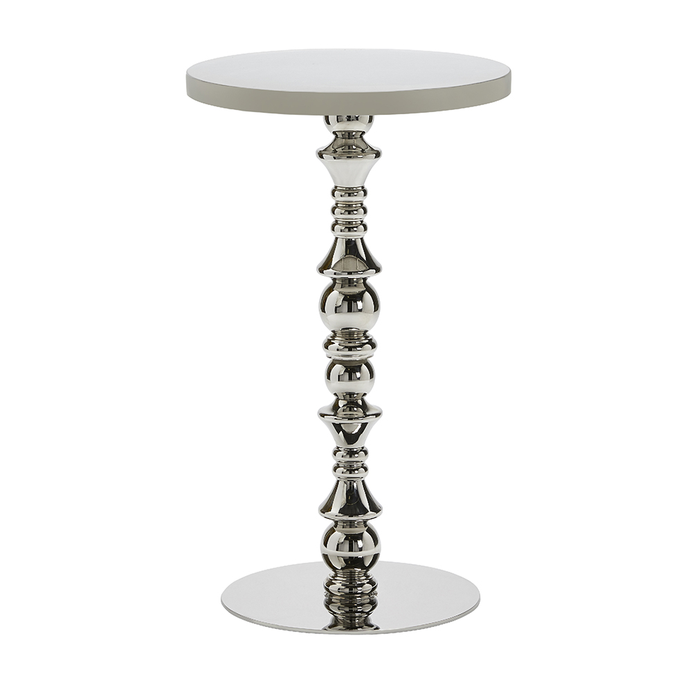 GEOMETRIC SILVER COCKTAIL TABLE